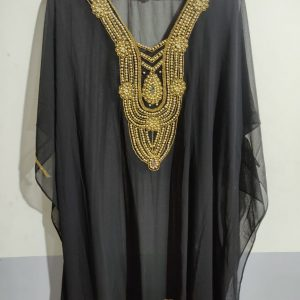 Gold Beaded Kaftan Short Coverup